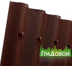 Битумный волнистый лист Ондулин Smart коричневый - фото 5192